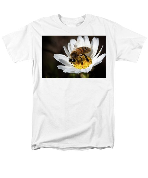 Men's T-Shirt  (Regular Fit) featuring the photograph Bee On The Flower by Bruno Spagnolo