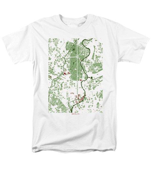 Berlin Minimal Map Men's T-Shirt  (Regular Fit) by Jasone Ayerbe- Javier R Recco