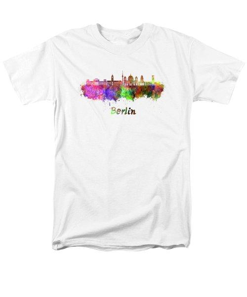 Berlin V2 Skyline In Watercolor Men's T-Shirt  (Regular Fit) by Pablo Romero