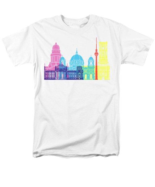 Berlin V2 Skyline Pop Men's T-Shirt  (Regular Fit) by Pablo Romero