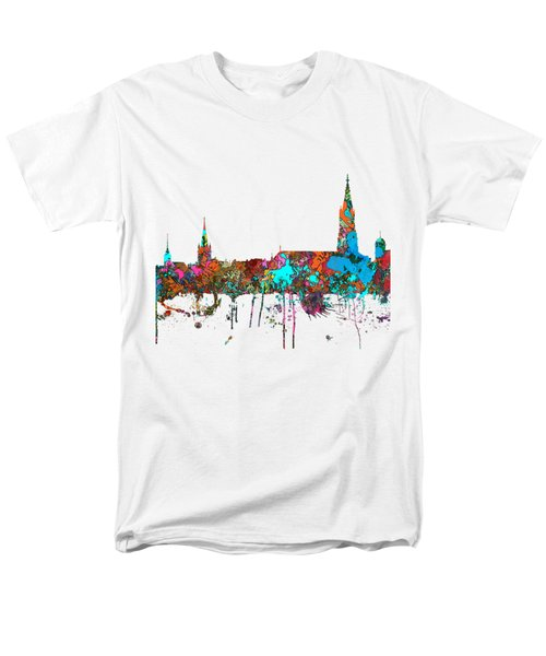 Berne Switzerland Skyline Men's T-Shirt  (Regular Fit) by Marlene Watson