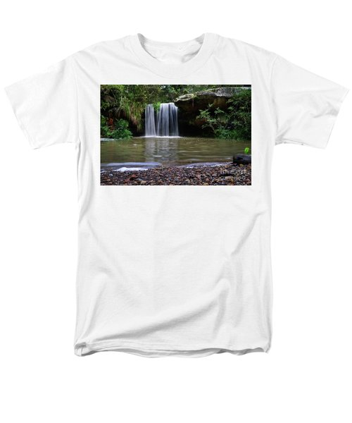 Men's T-Shirt  (Regular Fit) featuring the photograph Berowra Waterfall by Werner Padarin