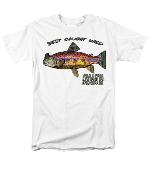 Fishing - Best Caught Wild On Light Men's T-Shirt  (Regular Fit)