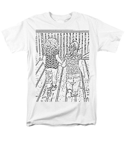 Best Friends Forever Men's T-Shirt  (Regular Fit) by Barbara Griffin