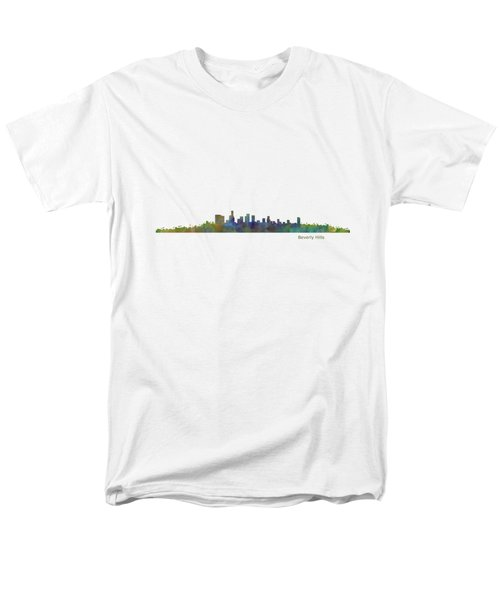 Beverly Hills City In La City Skyline Hq V1 Men's T-Shirt  (Regular Fit) by HQ Photo