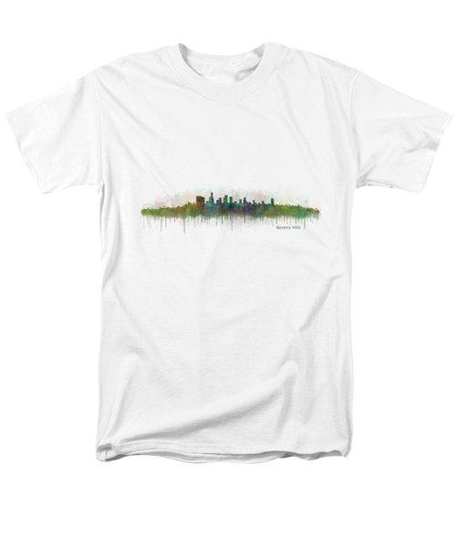 Beverly Hills City In La City Skyline Hq V3 Men's T-Shirt  (Regular Fit) by HQ Photo