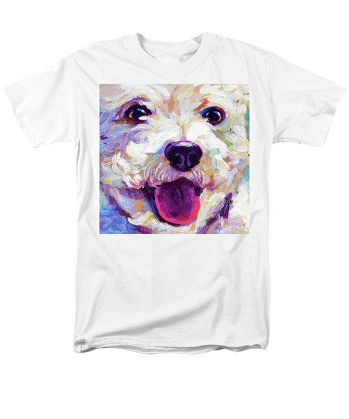 Men's T-Shirt  (Regular Fit) featuring the painting Bichon Frise Face by Robert Phelps