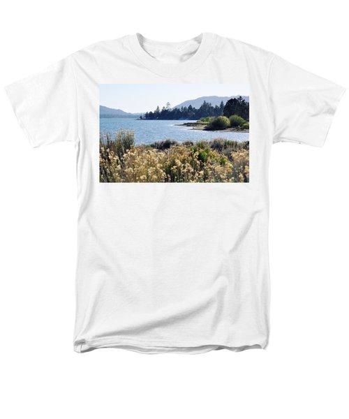 Big Bear Lake Shoreline Men's T-Shirt  (Regular Fit) by Kyle Hanson