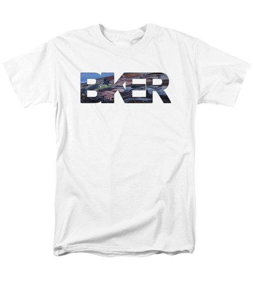 Biker Men's T-Shirt  (Regular Fit) by Priscilla Burgers
