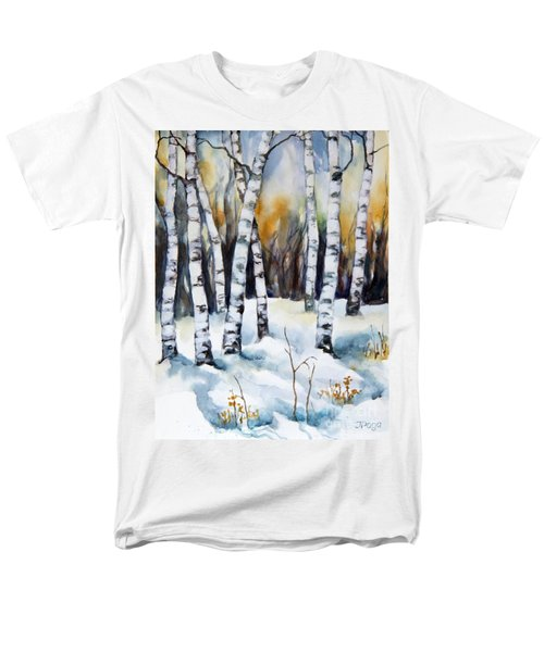 The White Of Winter Birch Men's T-Shirt  (Regular Fit) by Inese Poga
