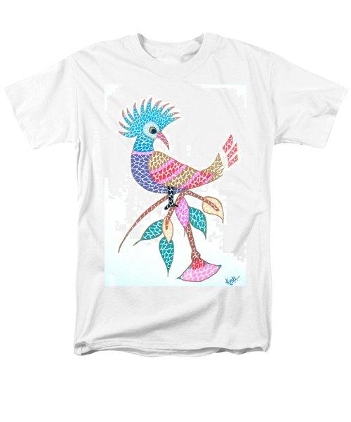 Bird On A Branch Men's T-Shirt  (Regular Fit) by Kruti Shah