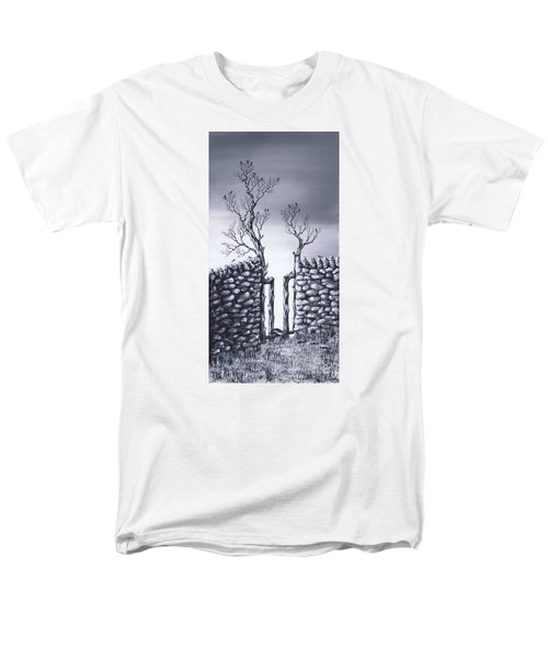 Men's T-Shirt  (Regular Fit) featuring the painting Bird Tree by Kenneth Clarke