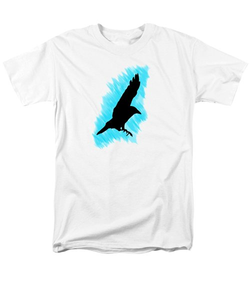 Black And Blue Men's T-Shirt  (Regular Fit) by Linsey Williams