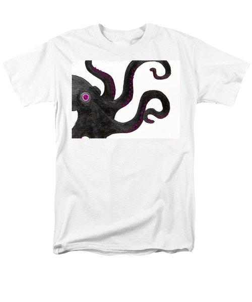 Black And Purple Octopus Men's T-Shirt  (Regular Fit) by Stefanie Forck