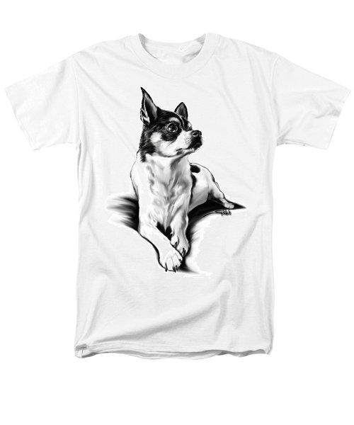 Black And White Chihuahua By Spano Men's T-Shirt  (Regular Fit) by Michael Spano