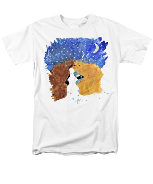 Romantic Kissing With Stars In Their Hair Men's T-Shirt  (Regular Fit) by Lucy Frost