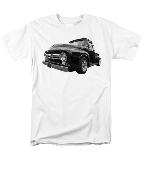 Men's T-Shirt  (Regular Fit) featuring the photograph Black Beauty - 1956 Ford F100 by Gill Billington