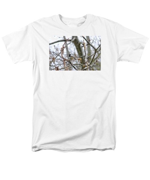 Men's T-Shirt  (Regular Fit) featuring the photograph Black-capped Chickadee 20120321_39b by Tina Hopkins