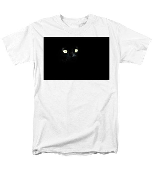Black Cat Men's T-Shirt  (Regular Fit) by Ryan Wyckoff
