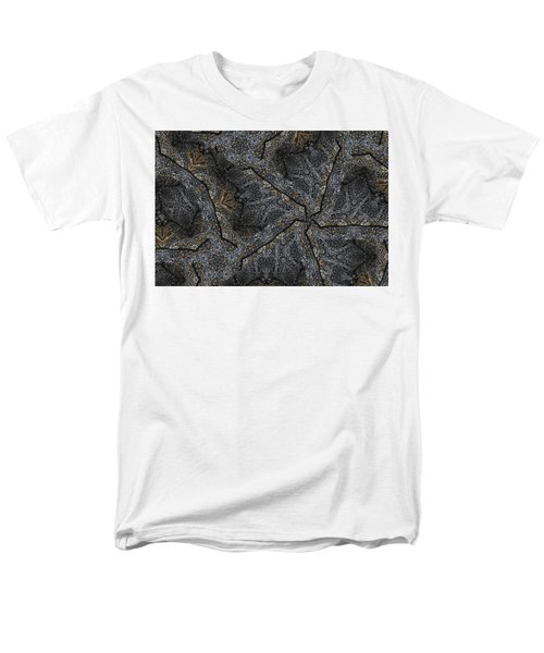Men's T-Shirt  (Regular Fit) featuring the photograph Black Granite Kaleido #1 by Peter J Sucy