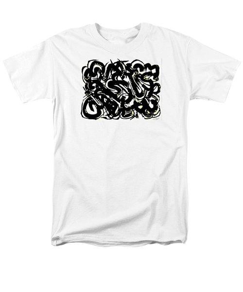 Black Ink Gold Paint Men's T-Shirt  (Regular Fit) by Expressionistart studio Priscilla Batzell