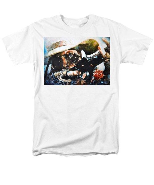 Black Powder Men's T-Shirt  (Regular Fit) by Traci Goebel