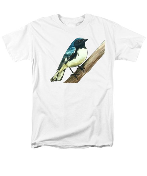 Black-throated Blue Warbler Men's T-Shirt  (Regular Fit) by Rory Viale