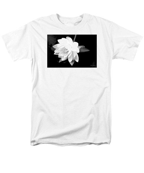 Men's T-Shirt  (Regular Fit) featuring the photograph Black/white Lotus by Debra     Vatalaro