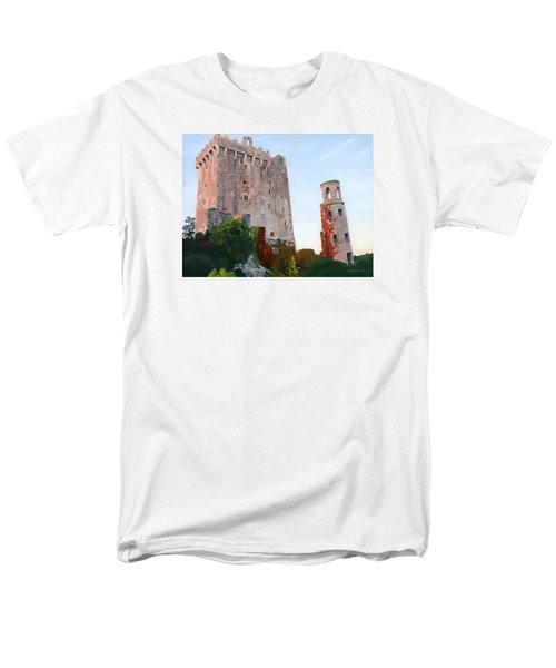 Men's T-Shirt  (Regular Fit) featuring the painting Blarney Castle by Lynne Reichhart