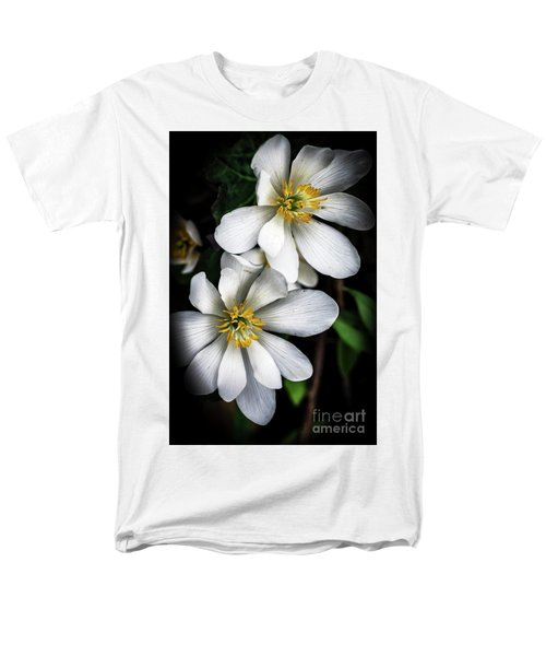 Men's T-Shirt  (Regular Fit) featuring the photograph Bloodroot In Bloom by Thomas R Fletcher