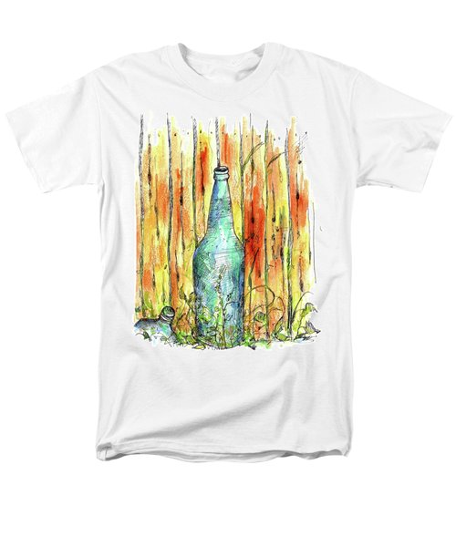 Men's T-Shirt  (Regular Fit) featuring the painting Blue Bottle by Cathie Richardson