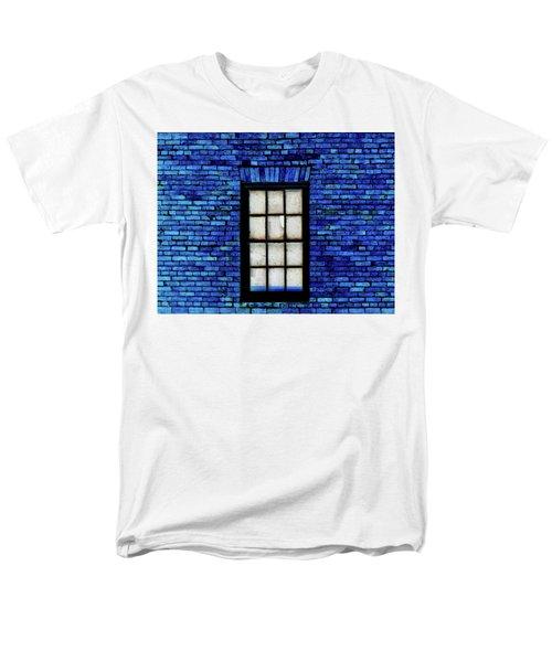 Men's T-Shirt  (Regular Fit) featuring the digital art Blue Brick by Robert Geary