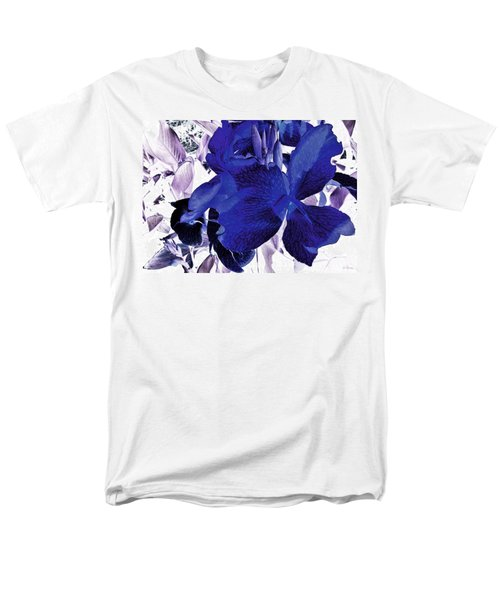 Men's T-Shirt  (Regular Fit) featuring the photograph Blue Canna Lily by Shawna Rowe