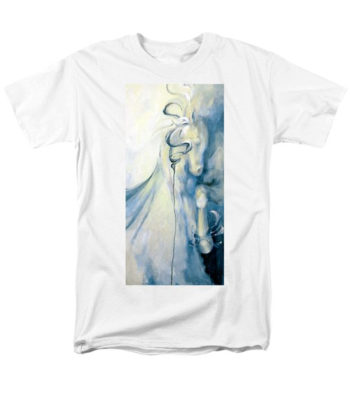 Men's T-Shirt  (Regular Fit) featuring the painting Blue Circus Pony 2 by Dina Dargo