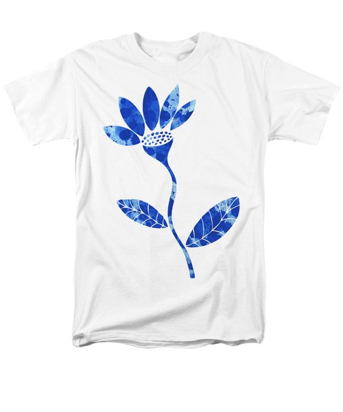 Blue Flower Men's T-Shirt  (Regular Fit) by Frank Tschakert