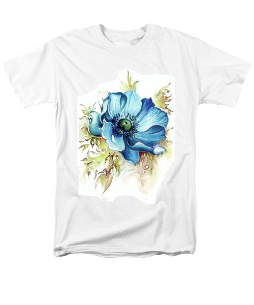 Men's T-Shirt  (Regular Fit) featuring the painting Blue Gem by Anna Ewa Miarczynska