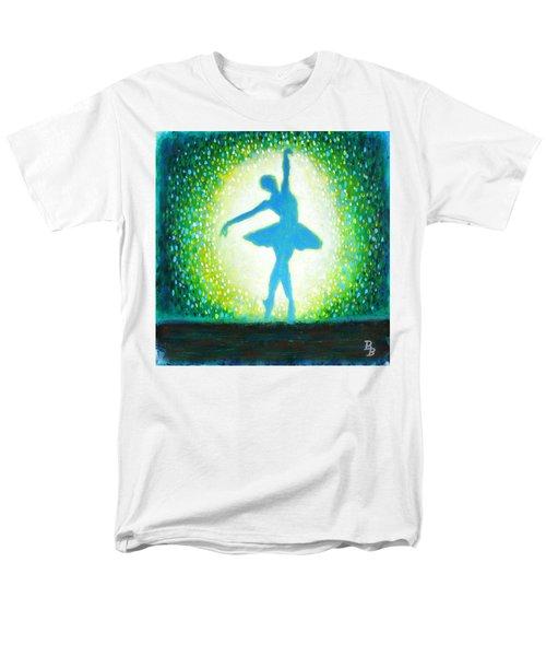 Blue-green Ballerina Men's T-Shirt  (Regular Fit)