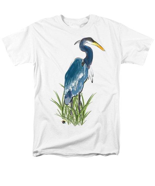 Blue Heron Men's T-Shirt  (Regular Fit) by Devon LeBoutillier