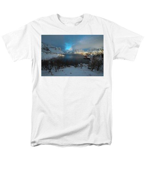 Blue Hour Over Reine Men's T-Shirt  (Regular Fit) by Dubi Roman