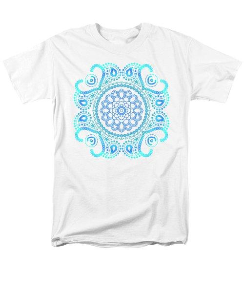 Blue Lotus Mandala Men's T-Shirt  (Regular Fit) by Tammy Wetzel