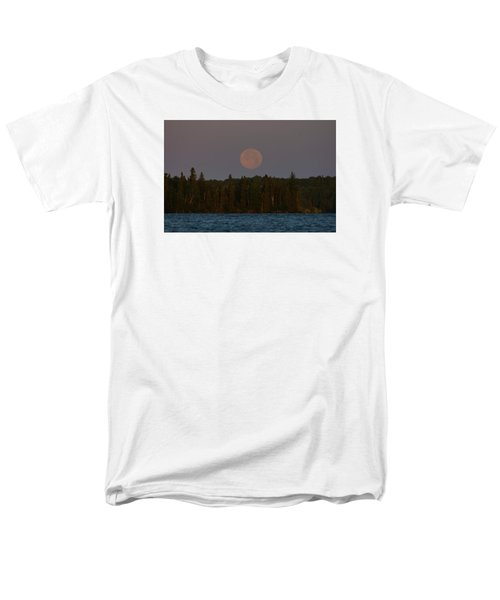 Men's T-Shirt  (Regular Fit) featuring the photograph Blue Moon Over Berry Lake by Steven Clipperton