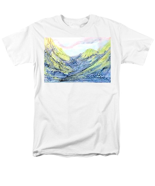 Blue Mountains Alcohol Inks  Men's T-Shirt  (Regular Fit) by Danielle  Parent