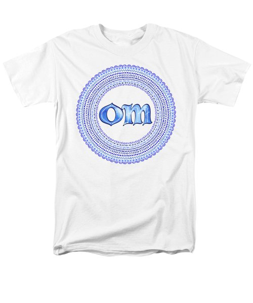 Blue Om Mandala Men's T-Shirt  (Regular Fit) by Tammy Wetzel