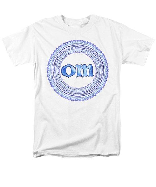 Blue Om Mandala Men's T-Shirt  (Regular Fit)
