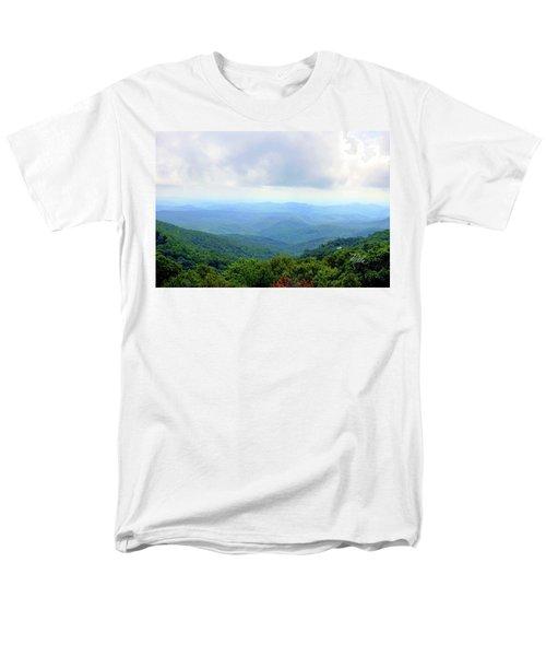 Men's T-Shirt  (Regular Fit) featuring the photograph Blue Ridge Parkway Overlook by Meta Gatschenberger