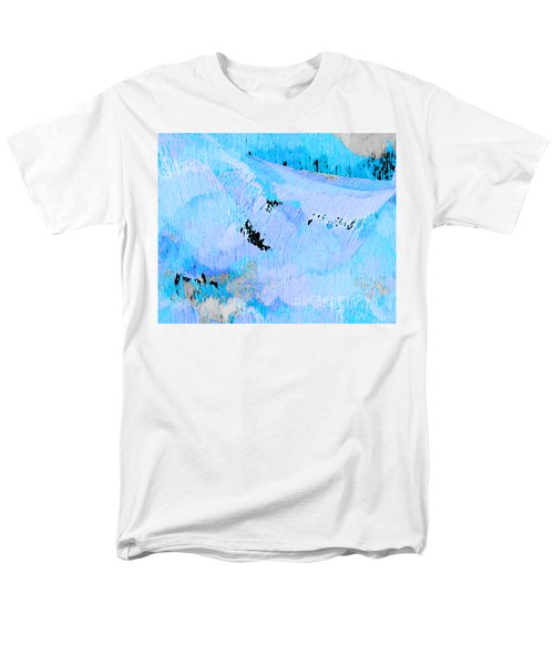 Blue Water Wet Sand Men's T-Shirt  (Regular Fit) by Stephanie Grant