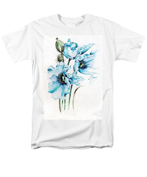 Men's T-Shirt  (Regular Fit) featuring the painting Blue Wind by Anna Ewa Miarczynska