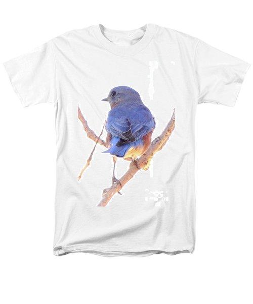 Bluebird On White Men's T-Shirt  (Regular Fit) by Robert Frederick
