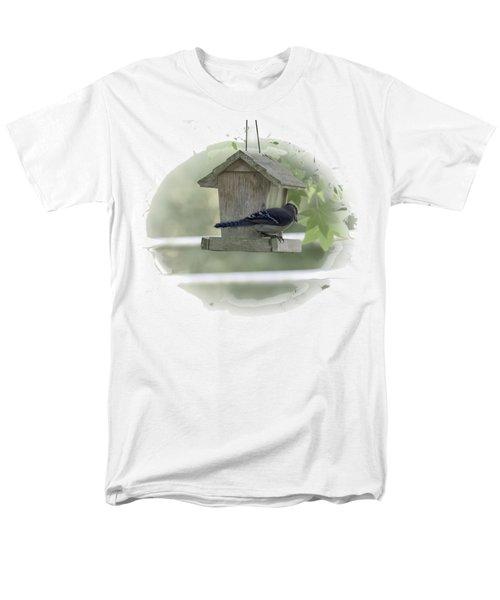 Bluejay Men's T-Shirt  (Regular Fit) by Judy Hall-Folde
