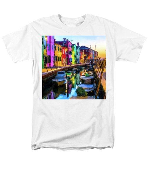 Boat Canal Men's T-Shirt  (Regular Fit)